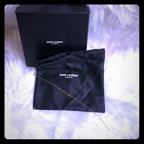 37a9312caf1 YSL Jewelry | Saint Laurent Charm Bracelet In Gold Brass | Poshmark